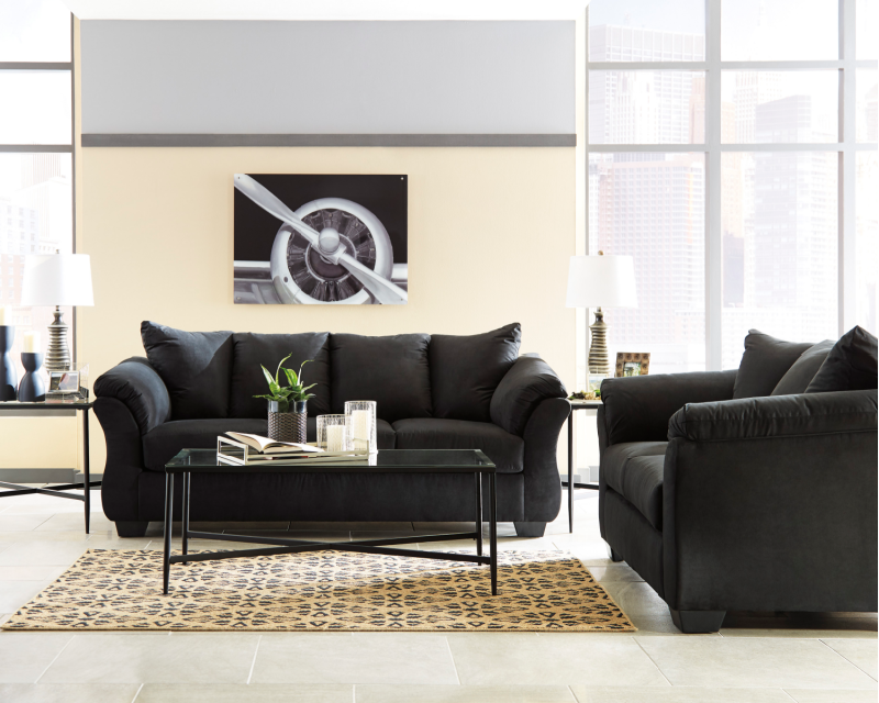 To Own Sofa Loveseat E Z Als, Ashley Furniture Darcy Loveseat